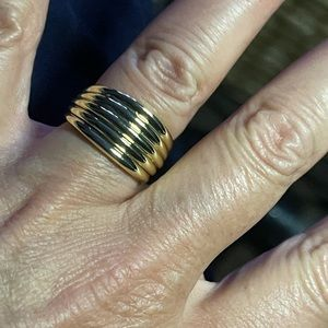18K Gold Plated Thick Dome Chunky Ring
